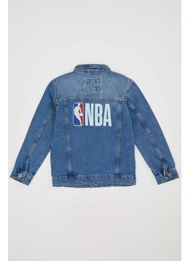DeFacto Erkek Çocuk NBA Lisanslı Jean Ceket Mavi